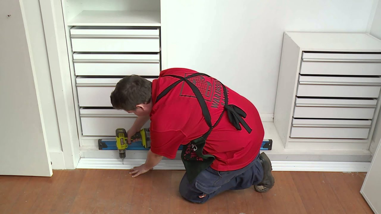How To Install Sliding Wardrobe Doors Diy With Bunnings Youtube