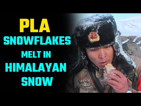 With every passing day, the Chinese PLA is getting buried deeper and deeper in Ladakh snow