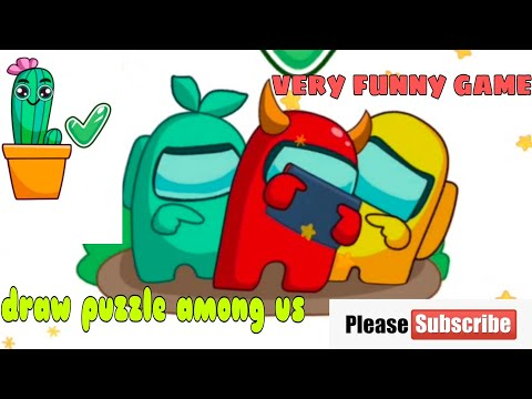 Among us draw puzzle level 1-60. funny game for kids  