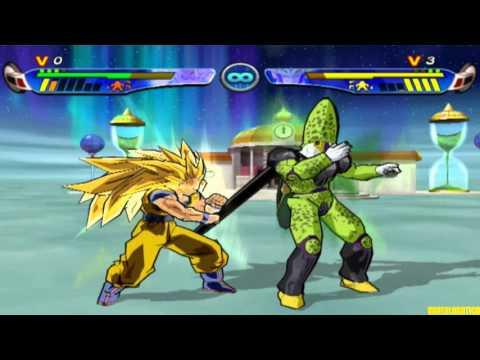 DBZ Budokai 3 Online - Goku [Mourossonero] vs Cell [Tico] 8 Fights