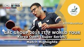 Korea Open 2015 Highlights: ASSAR Omar vs SAMBE Kohei (1/16)