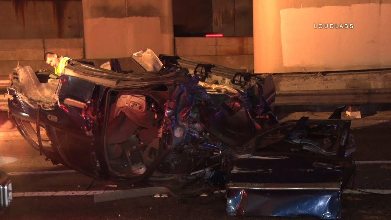 Violent Fatal Ejection Crash / Downtown LA RAW FOOTAGE