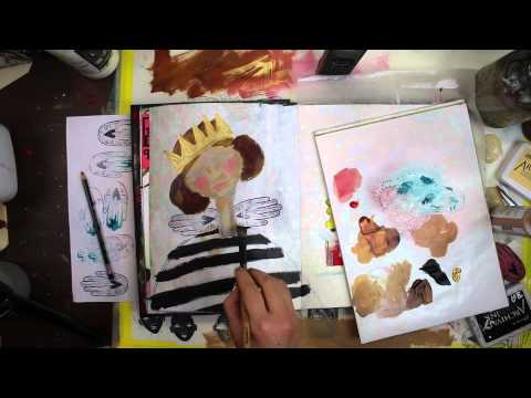 Art Journal Fast Forward: Stamped Wings