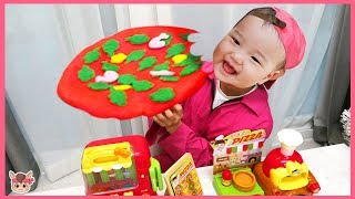 주방놀이 장난감 매운 피자 만들기 놀이! 카페놀이 kids food toys Pretend Play With Kitchen Play Set Nursery Rhymes Song