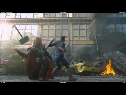 Avengers Blooper: Thor Dropping his Hammer