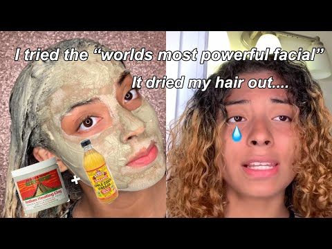 I USED THE AZTEC CLAY MASK ON MY FACE & HAIR..... THIS RUINED MY NATURAL HAIR