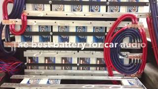 The BEST CAR AUDIO battery: for your application