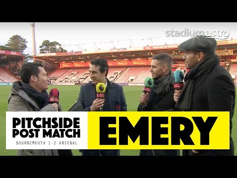 PITCHSIDE: Unai Emery post match reaction | Bournemouth 1-2 Arsenal | Astro SuperSport