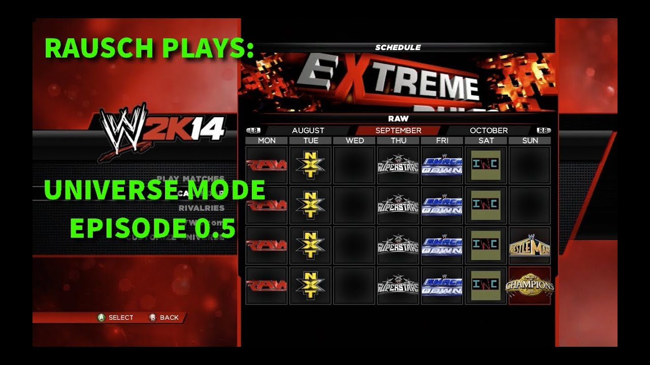 RAUSCH PLAYS: WWE 2K14 Universe Mode Ep. 0.5 - ROSTERS, TITLES, AND CALENDARS - YouTube