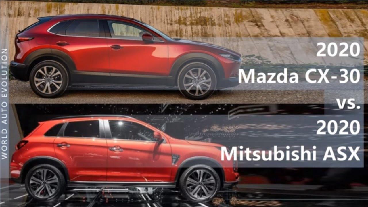2020 Mazda Cx 30 Vs 2020 Mitsubishi Asx Technical Comparison Youtube