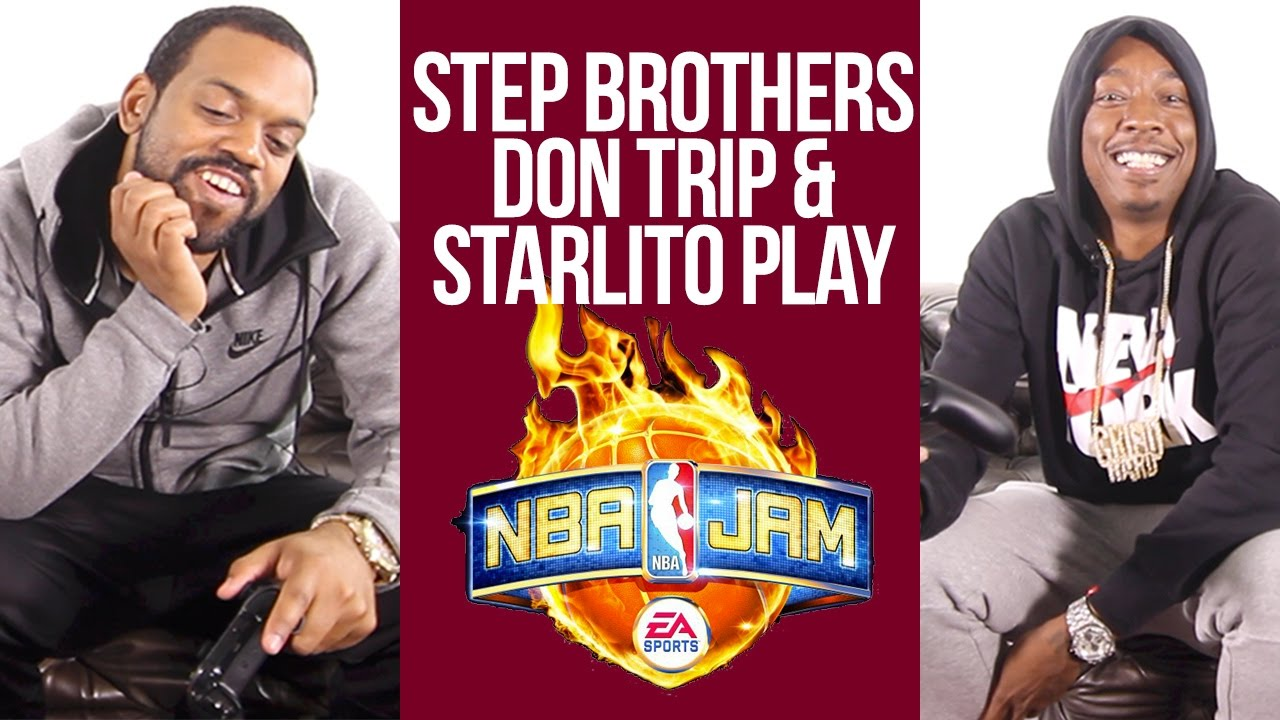 "Starlito & Don Trip Talk ""Step Brothers 3"" While Playing NBA Jam"