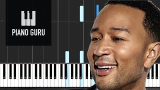 Conversations In The Dark - John Legend - PIANO TUTORIAL
