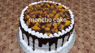 Mancho cake/ Mango-Chocolate cake recipe without oven in malayalam #withoutovencake