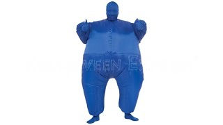 Blue Skin Suit Inflatable Costume