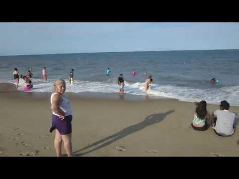 Rehoboth Beach Delaware summer at the Atlantic Ocean USA