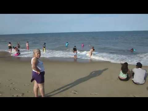 Rehoboth Beach Delaware summer at the Atlantic Ocean USA