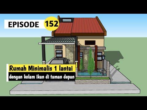 Rumah Minimalis 1 Lantai 6 x 12 meter