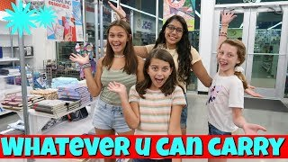 I WILL BUY WHATEVER YOU CAN CARRY AT 5 BELOW CHALLENGE!