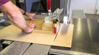 Headstock Angle - Cutting Jig For Panel Or Drop Saw