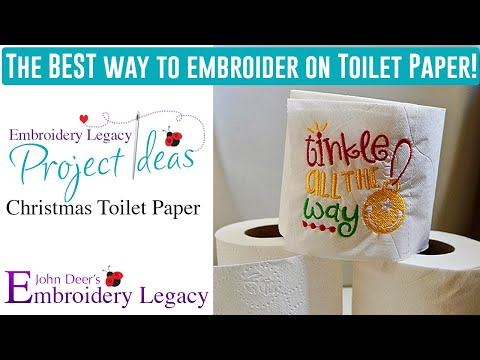 How To Easily Embroider On Toilet Paper: Embroidery Legacy Project Ideas & Tutorials