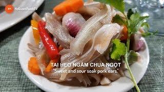 """Cách làm TAI HEO NGÂM CHUA NGỌT Cực giòn Tại nhà- """"Sweet and sour soak pork aers""""-MonngonHoGuom"""