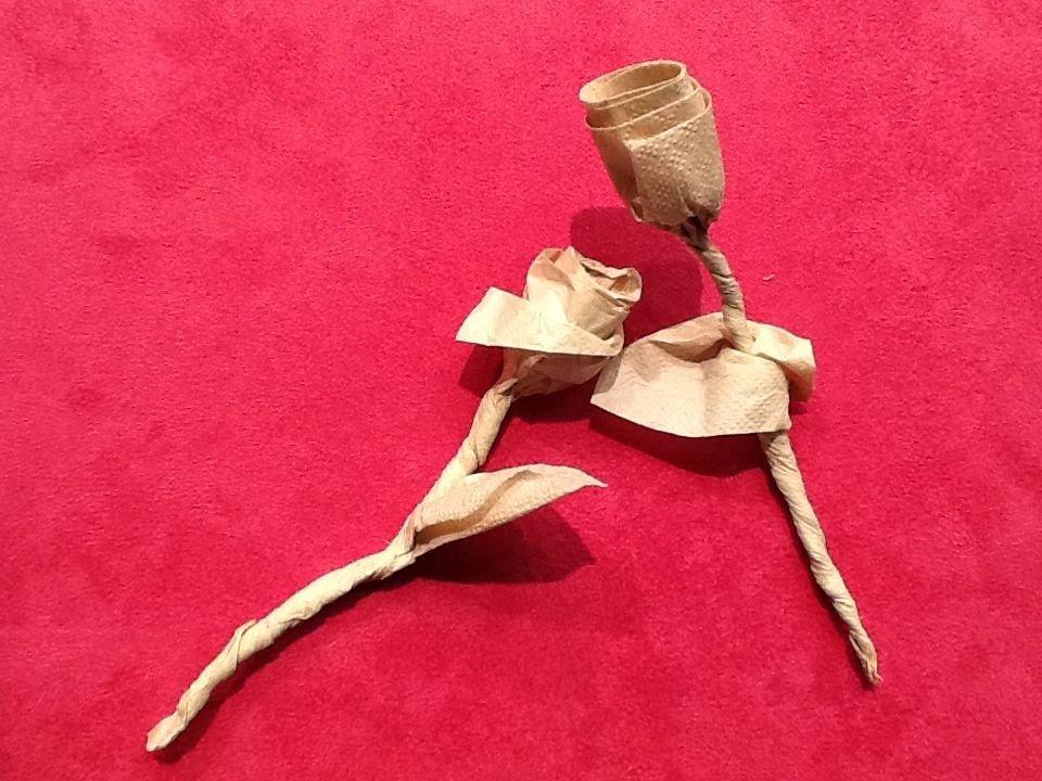 Napkin origami rose youtube napkin origami rose mightylinksfo