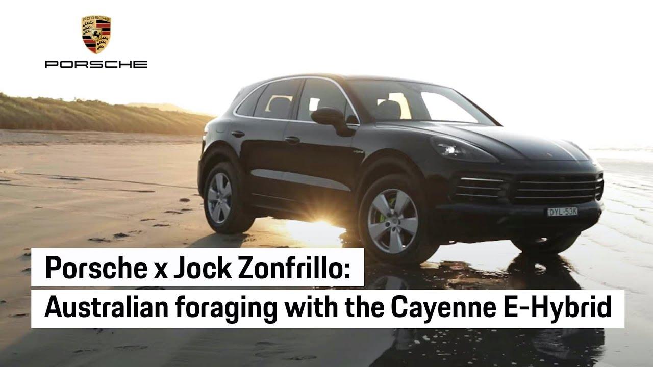 Jock Zonfrillo foraging for native Australian ingredients with the Porsche Cayenne E-Hybrid