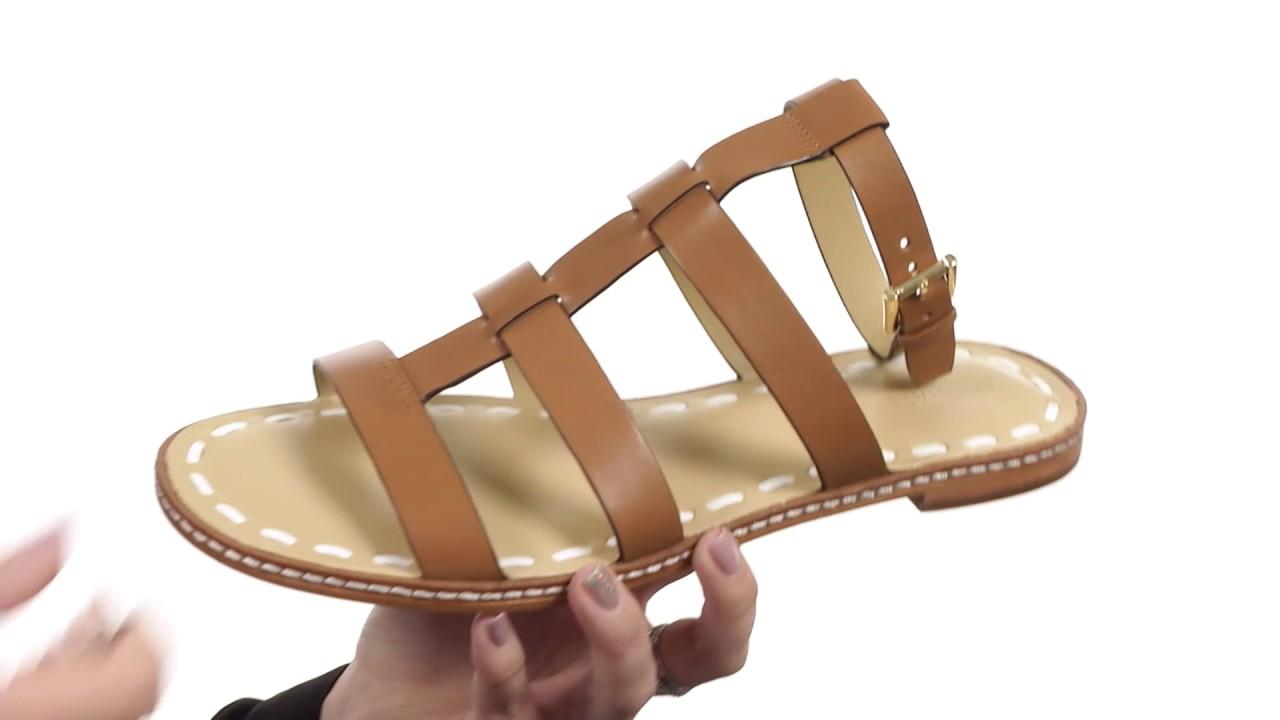 442b0955847 MICHAEL Michael Kors Fallon Flat Sandal SKU 8845234 - YouTube