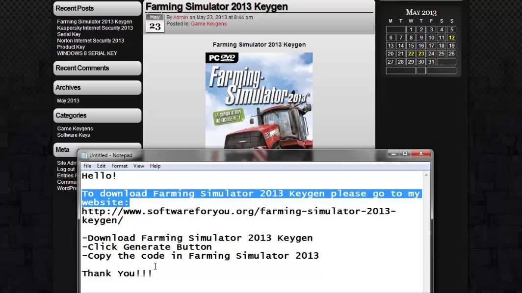 agrar simulator 2013 crack free