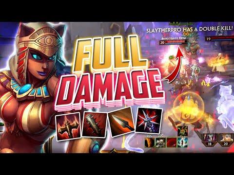 Smite: BASTET REWORK Full Damage Build - Season 7 Gameplay