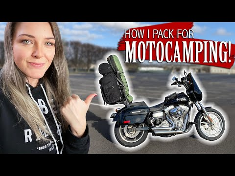 MOTORCYCLE CAMPING GEAR! What I Pack On My Harley Davidson!