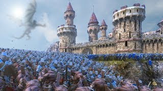 The Battle For Middle Earth - Minas Tirith!!!   Ultimate Epic Battle Simulator HD