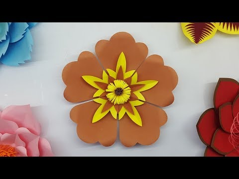 Paper Flower Backdrop with Free Template