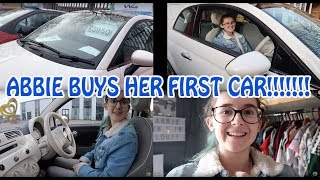ABBIE BUYS HER FIRST CAR!!!!! | VLOG #425