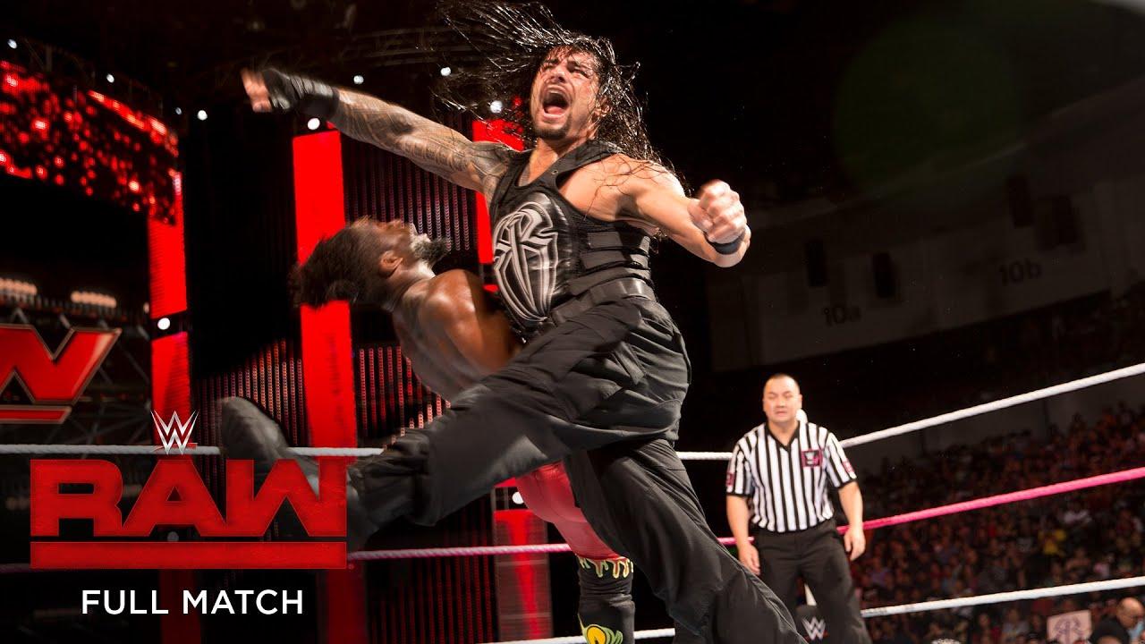 Download FULL MATCH - Roman Reigns vs. Kofi Kingston: Raw, Oct. 26, 2015