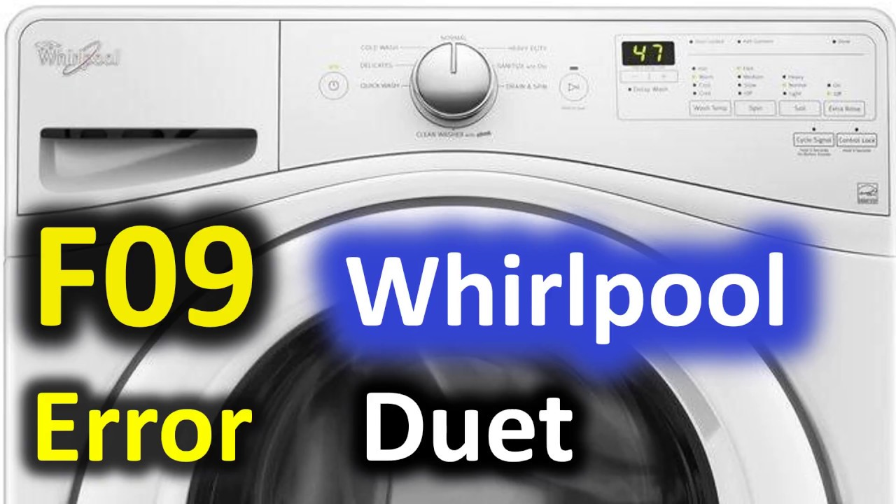 F09 Error Code Solved Whirlpool Duet Front Load Washer