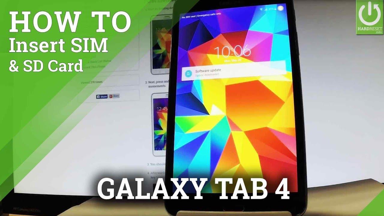 carte micro sd pour tablette samsung galaxy tab a Insert SIM & SD in SAMSUNG Galaxy Tab 4   Set Up SIM and SD Card