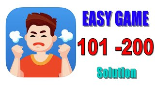 Easy Game - Brain Test level 101 - 200 walkthrough solution | Tricky Mind Puzzle