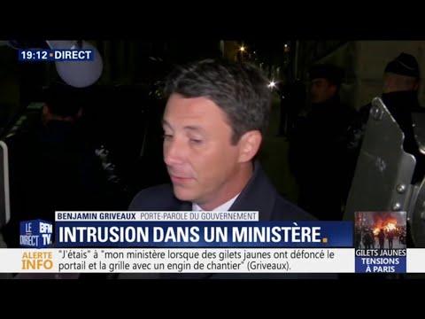 """""""Ils ont attaqué la maison France"""" réagit Benjamin Griveaux après l'intrusion dans son ministère"""