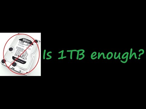 Is a 1TB HDD enough for PC / PS4 / XBox One?