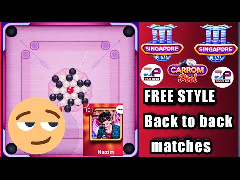 Carrom Desi Pool |1m Singapore Play | FREE STYLE |Online Game.