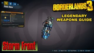 BORDERLANDS 3 | *Storm Front* Legendary Weapons Guide