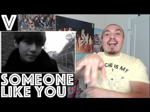 BTS V/TAEHYUNG Someone Like You Cover REACTION