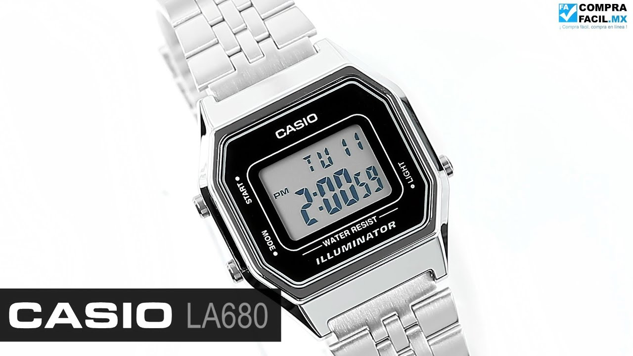 e86953f6b36b Reloj Casio Retro LA680 Plata - www.CompraFacil.mx - YouTube