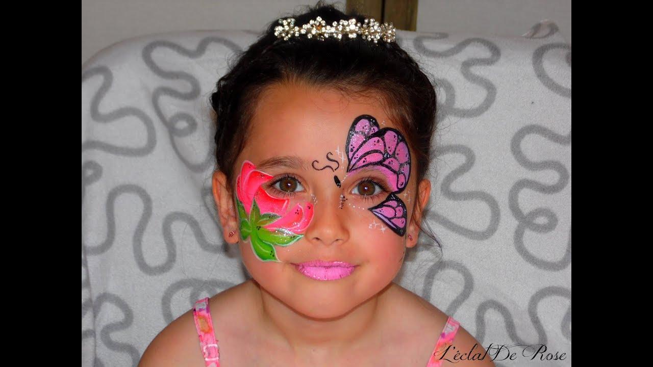 Tutoriel maquillage enfant papillon et fleur makeup for Tutorial papillon