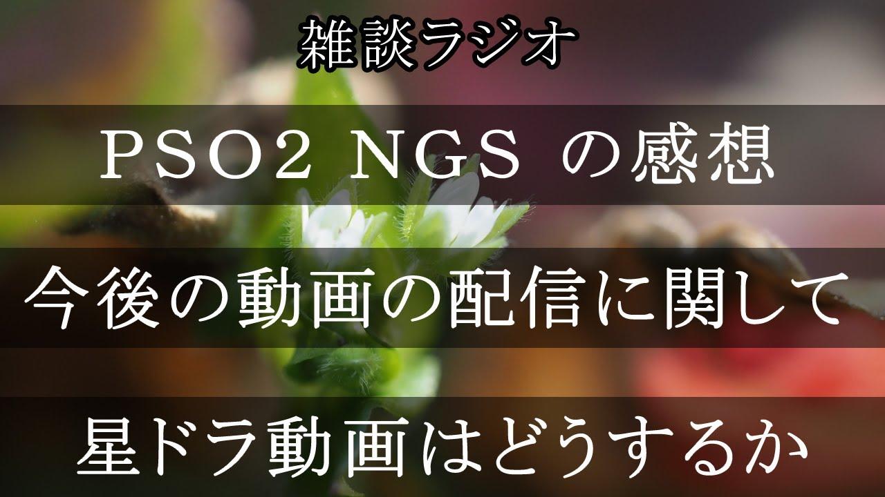 「動画配信について」 & 「PSO2 NGS の感想」