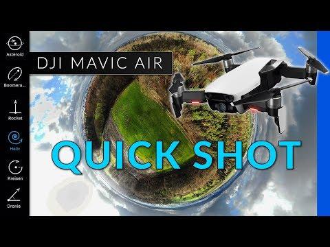 DJI Mavic Air: Quickshot & Asteroid Modus - Drohne im Praxistest und Footage [deutsch]