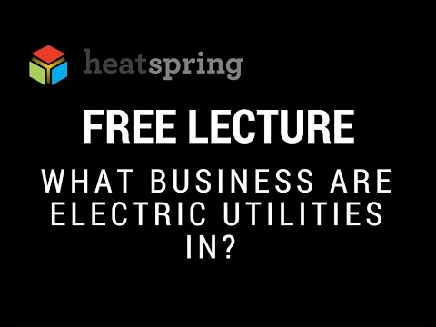 Free Lecture: What Business Are Electric Utilities In?