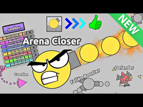 I AM 5 ARENA CLOSERS!! GOD MODE VS BOSSES! New Sandbox Mode Update (Diep.io Glitched Hack/Mod)