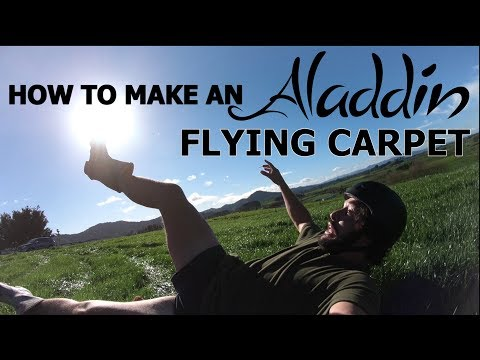 HOW TO MAKE AN ALADDIN FLYING CARPET